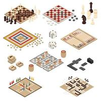 Satz isometrischer Brettspiele