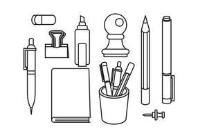 Fria Stationär och Pen Vektorer
