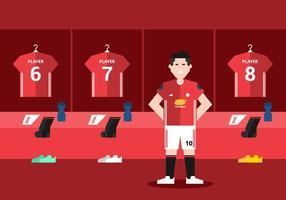 Zimmer roten Fußball-Dressing vektor
