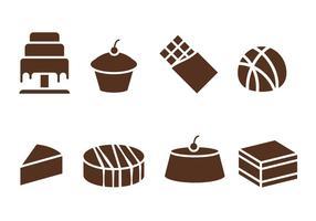 Schokolade, Kuchen und Süßwaren vektor