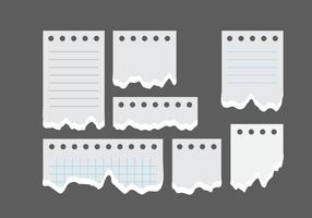 Zerrissenes Papier-Block Notizen