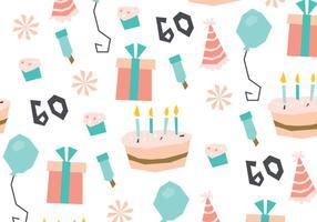 Süßer Geburtstag Muster vektor