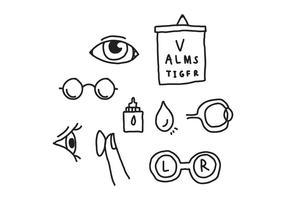 Ögonläkare klotter vektor