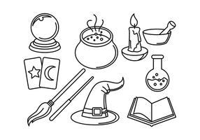 Freie Wizards Linear-Symbol Vektoren