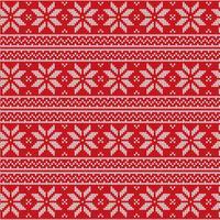 Röd jul tyg Vector Mönster