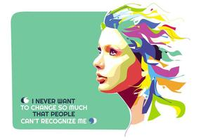 Taylor Swift - Hollywood Life - Popart Portrait vektor