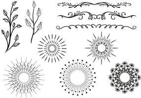 Freie Ornamente Vektoren