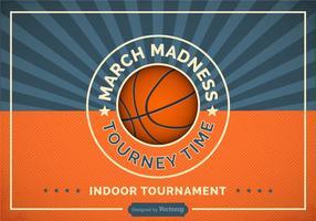 Freie Basketball Madness Vector Retro Plakat