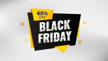 svart fredag försäljning banner med rabatt