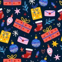 Muster mit Weihnachtsgeschenkboxen