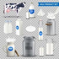uppsättning mjölkprodukter vektor