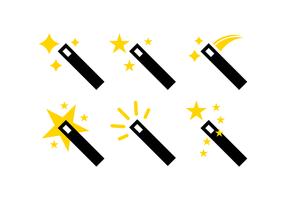 Magiska Stick vektorer