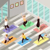 isometriska människor som gör yoga