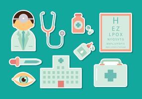 Augenarzt-Icons Vector
