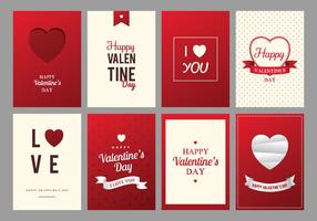 Red and Cream Glad Alla hjärtans dag kort vektor
