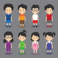 små barnvänliga karaktärer