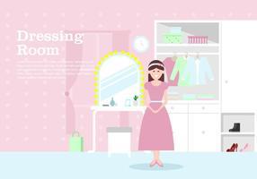 Womens Omklädningsrum Bakgrund vektor