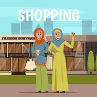 Frauen aus dem Nahen Osten einkaufen