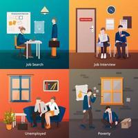 arbetslöshetsscen vektor