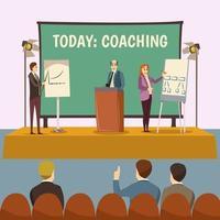 Coaching und Business-Präsentation vektor
