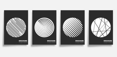cirkel och linje geometriska former täcka set