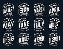 grunge legender är födda olika månader vintage t-shirt typografi