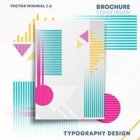 geometrische Formen Design für Flyer, Poster, Broschüre