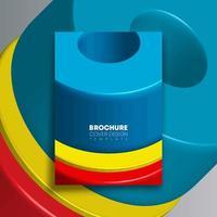 bunte geometrische Formen entwerfen für Flyer, Plakat, Broschüre