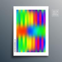 Farbverlauf Textur Vorlage mit linearem Design auf Weiß