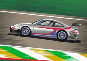 Zooming Race Car Vektor-Szene vektor