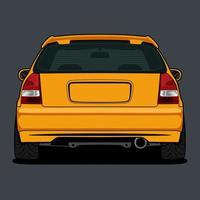 gul bakifrån bil ritning