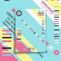 memphis minimal design för flygblad, affisch, broschyr vektor