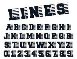 Linien Alphabet Vorlage vektor