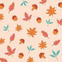Herbstsaison. Ahornblätter, Eicheln und Laub