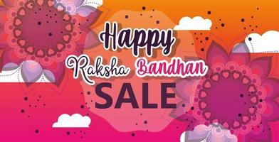 Raksha Bandhan Mega Sale Poster vektor