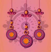 raksha bandhan dekorativ prydnadsdesign vektor