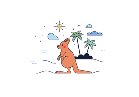 Fri känguru Vektor