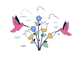 Kostenlose Hummingbird Vektor