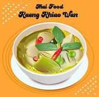kaeng kaew wan thailändsk mat