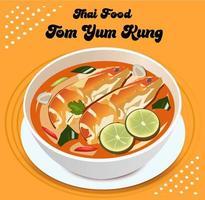 tom yum kung thailändsk mat