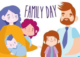 Mutter Vater Töchter Baby und Familientag