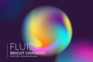 holographisches flüssiges helles Gradientenkreisdesign