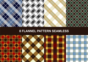 Flanell-Muster Nahtlose