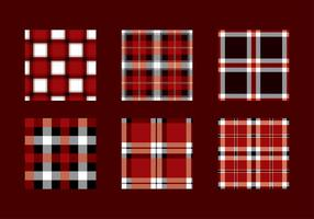Flanell Röd Svart textur vektor
