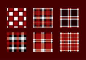 Flanell Rot Schwarz Textur Vektor