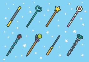 Gratis Magiska Stick ikoner Vector