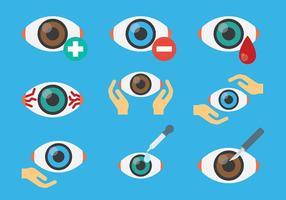 Freie Augenarzt-Augen-Icons Vector