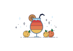 Gratis apelsinjuice Vector