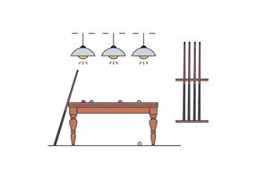 Kostenlose Pool Table Vector