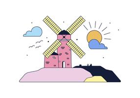 Freie Windmill Vector